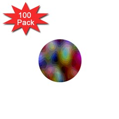 A Mix Of Colors In An Abstract Blend For A Background 1  Mini Buttons (100 Pack)  by Amaryn4rt