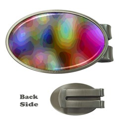 A Mix Of Colors In An Abstract Blend For A Background Money Clips (oval)