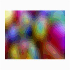 A Mix Of Colors In An Abstract Blend For A Background Small Glasses Cloth (2 Side)