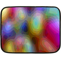 A Mix Of Colors In An Abstract Blend For A Background Double Sided Fleece Blanket (mini)  by Amaryn4rt