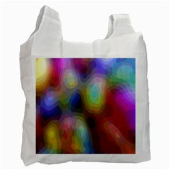 A Mix Of Colors In An Abstract Blend For A Background Recycle Bag (one Side) by Amaryn4rt