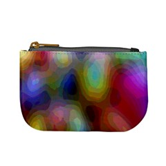 A Mix Of Colors In An Abstract Blend For A Background Mini Coin Purses by Amaryn4rt