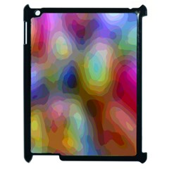 A Mix Of Colors In An Abstract Blend For A Background Apple Ipad 2 Case (black) by Amaryn4rt