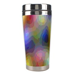 A Mix Of Colors In An Abstract Blend For A Background Stainless Steel Travel Tumblers by Amaryn4rt