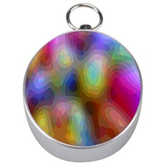 A Mix Of Colors In An Abstract Blend For A Background Silver Compasses by Amaryn4rt