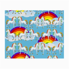 Rainbow Pony  Small Glasses Cloth by Valentinaart