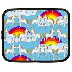 Rainbow Pony  Netbook Case (large) by Valentinaart