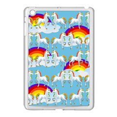 Rainbow Pony  Apple Ipad Mini Case (white) by Valentinaart