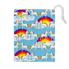 Rainbow Pony  Drawstring Pouches (extra Large) by Valentinaart