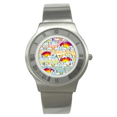 Rainbow Pony  Stainless Steel Watch by Valentinaart