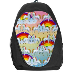 Rainbow Pony  Backpack Bag by Valentinaart
