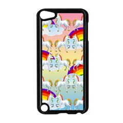 Rainbow Pony  Apple Ipod Touch 5 Case (black) by Valentinaart