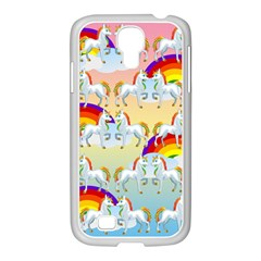 Rainbow Pony  Samsung Galaxy S4 I9500/ I9505 Case (white) by Valentinaart