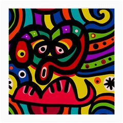 A Seamless Crazy Face Doodle Pattern Medium Glasses Cloth by Amaryn4rt