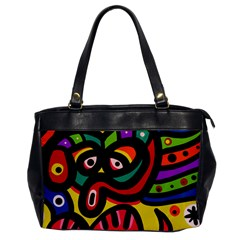 A Seamless Crazy Face Doodle Pattern Office Handbags by Amaryn4rt