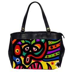 A Seamless Crazy Face Doodle Pattern Office Handbags (2 Sides)