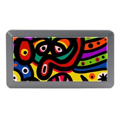 A Seamless Crazy Face Doodle Pattern Memory Card Reader (mini) by Amaryn4rt