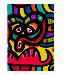 A Seamless Crazy Face Doodle Pattern Small Garden Flag (two Sides) by Amaryn4rt