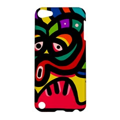A Seamless Crazy Face Doodle Pattern Apple Ipod Touch 5 Hardshell Case by Amaryn4rt