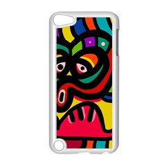 A Seamless Crazy Face Doodle Pattern Apple Ipod Touch 5 Case (white) by Amaryn4rt