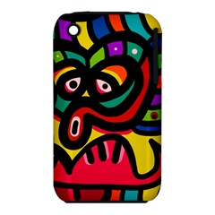 A Seamless Crazy Face Doodle Pattern Iphone 3s/3gs by Amaryn4rt