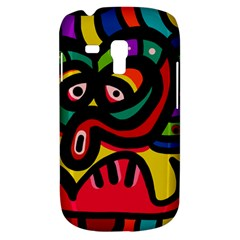 A Seamless Crazy Face Doodle Pattern Galaxy S3 Mini by Amaryn4rt