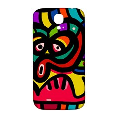 A Seamless Crazy Face Doodle Pattern Samsung Galaxy S4 I9500/i9505  Hardshell Back Case by Amaryn4rt
