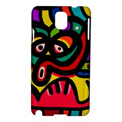 A Seamless Crazy Face Doodle Pattern Samsung Galaxy Note 3 N9005 Hardshell Case by Amaryn4rt