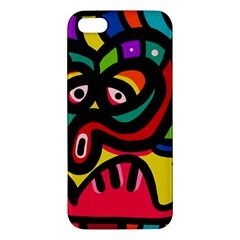 A Seamless Crazy Face Doodle Pattern Iphone 5s/ Se Premium Hardshell Case by Amaryn4rt
