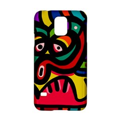 A Seamless Crazy Face Doodle Pattern Samsung Galaxy S5 Hardshell Case  by Amaryn4rt