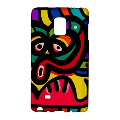 A Seamless Crazy Face Doodle Pattern Galaxy Note Edge by Amaryn4rt