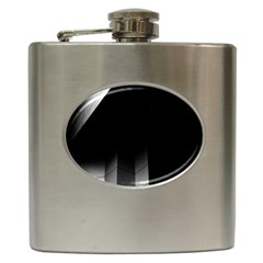 Wall White Black Abstract Hip Flask (6 Oz) by Amaryn4rt