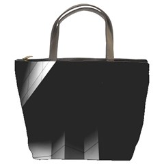 Wall White Black Abstract Bucket Bags by Amaryn4rt