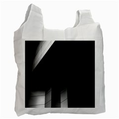 Wall White Black Abstract Recycle Bag (two Side)  by Amaryn4rt