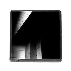 Wall White Black Abstract Memory Card Reader (square) by Amaryn4rt