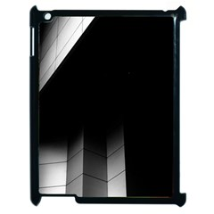 Wall White Black Abstract Apple Ipad 2 Case (black) by Amaryn4rt