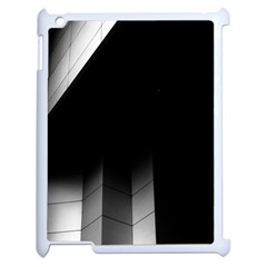 Wall White Black Abstract Apple Ipad 2 Case (white) by Amaryn4rt