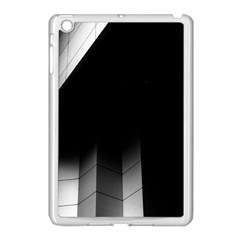 Wall White Black Abstract Apple Ipad Mini Case (white) by Amaryn4rt