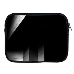 Wall White Black Abstract Apple Ipad 2/3/4 Zipper Cases by Amaryn4rt