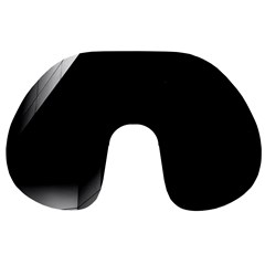 Wall White Black Abstract Travel Neck Pillows by Amaryn4rt