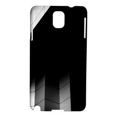 Wall White Black Abstract Samsung Galaxy Note 3 N9005 Hardshell Case by Amaryn4rt