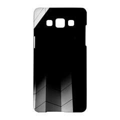 Wall White Black Abstract Samsung Galaxy A5 Hardshell Case  by Amaryn4rt