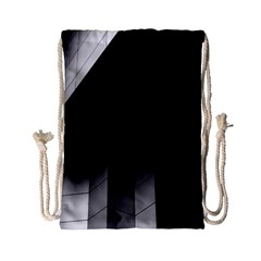 Wall White Black Abstract Drawstring Bag (small) by Amaryn4rt