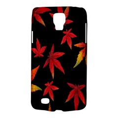 Colorful Autumn Leaves On Black Background Galaxy S4 Active by Amaryn4rt