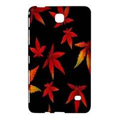 Colorful Autumn Leaves On Black Background Samsung Galaxy Tab 4 (8 ) Hardshell Case  by Amaryn4rt