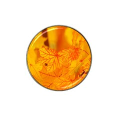 Bright Yellow Autumn Leaves Hat Clip Ball Marker by Amaryn4rt