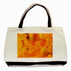 Bright Yellow Autumn Leaves Basic Tote Bag by Amaryn4rt