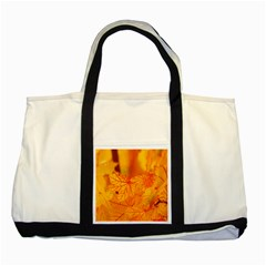 Bright Yellow Autumn Leaves Two Tone Tote Bag by Amaryn4rt
