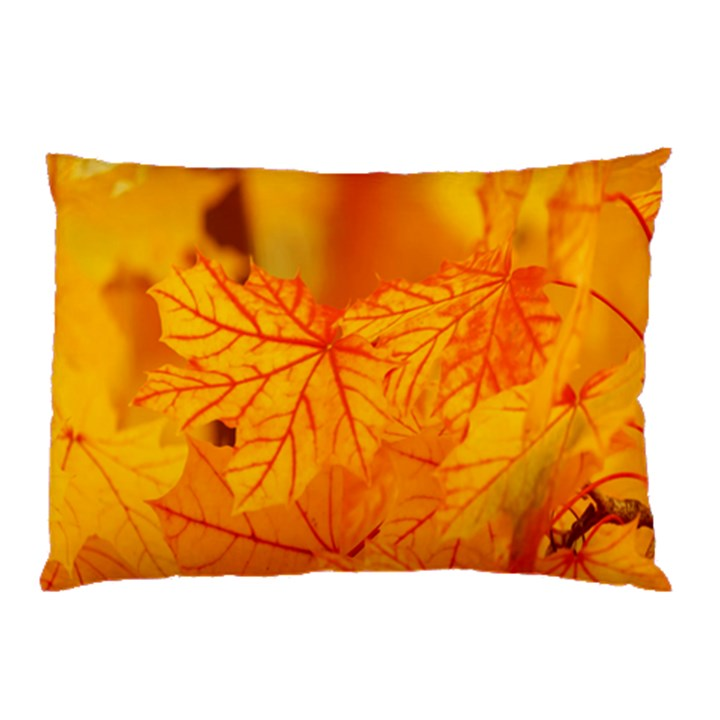Bright Yellow Autumn Leaves Pillow Case