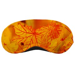 Bright Yellow Autumn Leaves Sleeping Masks by Amaryn4rt